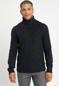 Pier One - Jumper - mottled dark blue - 0