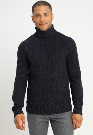 Strickpullover - mottled dark blue