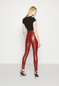 Missguided - TROUSER - Trousers - wine - 2