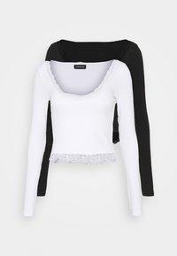 Even&Odd Tall - 2 PACK - Long sleeved top - black/white - 0