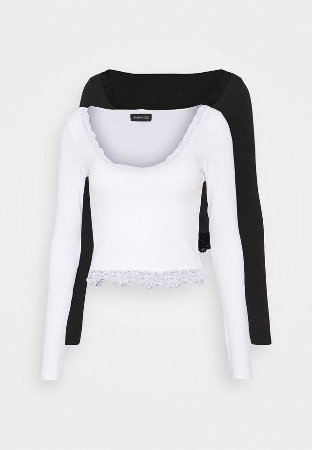 2 PACK - Pitkähihainen paita - black/white