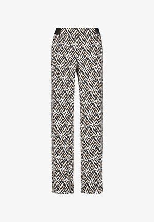 Trousers - ecru schwarz sahara druck