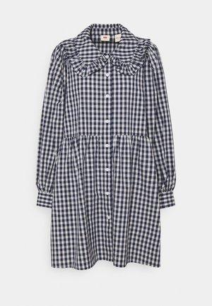 MIRA DRESS - Denim dress - peacoat