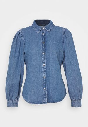 ONLROCCO LIFE - Button-down blouse - medium blue denim