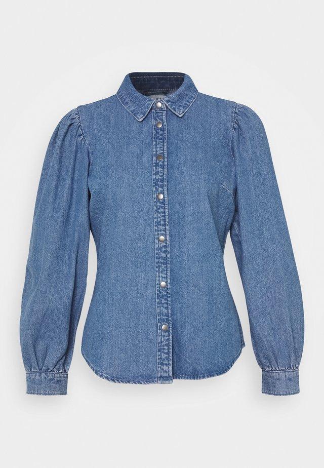 ONLROCCO LIFE - Button-down blouse - medium blue denim