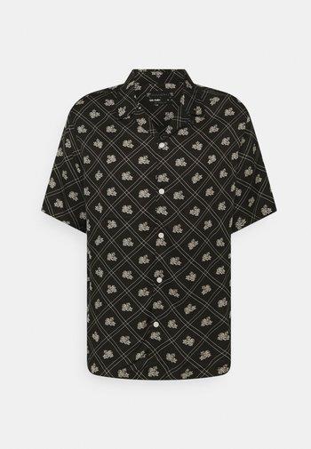 ROSE CHECK - Shirt - jet black