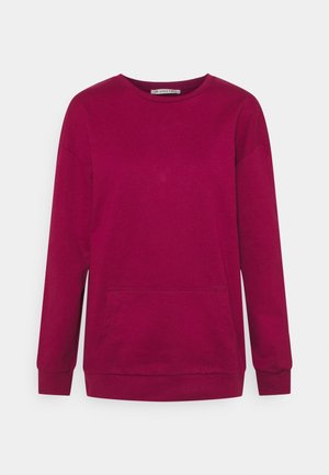 Crew neck with pocket - Mikina - red