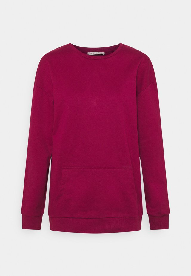 Crew neck with pocket - Collegepaita - red