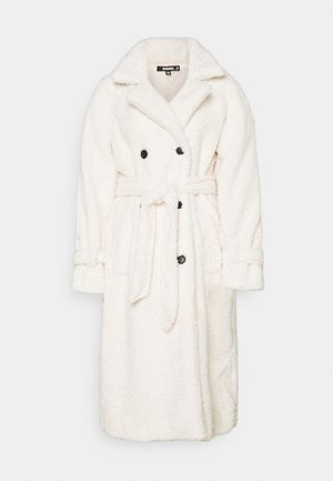 COLLAR COAT - Trenchcoat - white