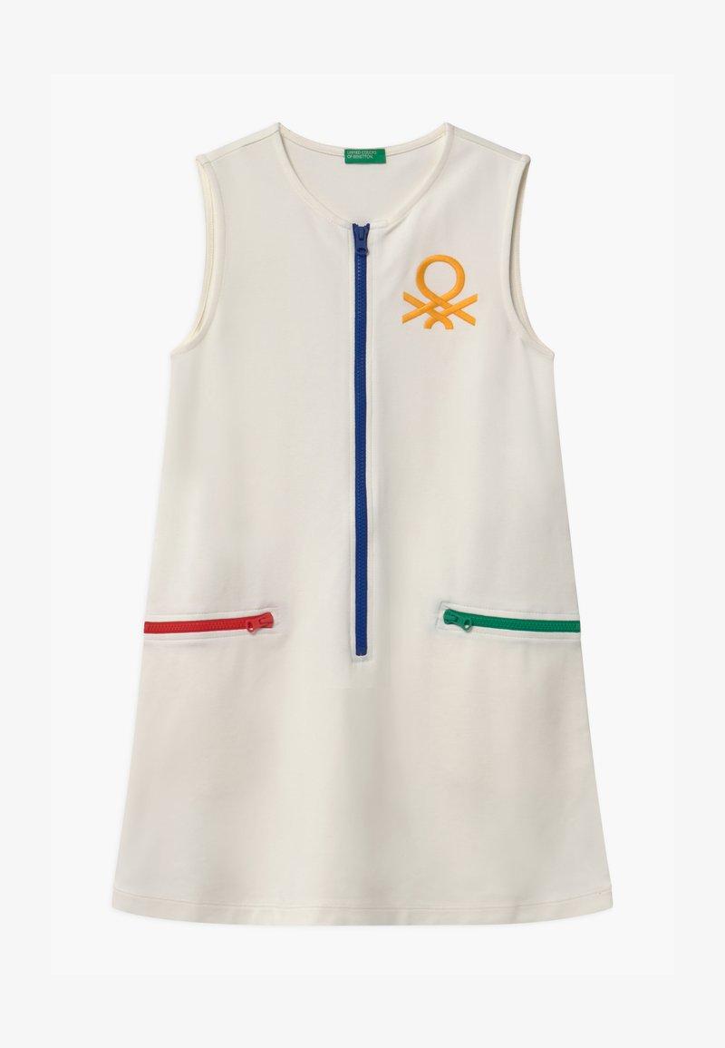 Benetton - EUROPE GIRL - Žerzejové šaty - white