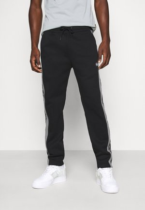 SPORT HEATHER STRIPE - Tracksuit bottoms - black