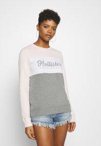 Hollister Co. - FASHION CREW - Sweatshirt - pink/white/grey - 0