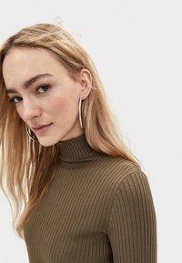 Bershka - Sweter - khaki - 3