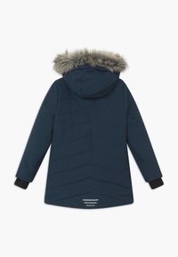 TrollKids - GIRLS LIFJELL JACKET - Winter coat - navy melange/magenta - 1
