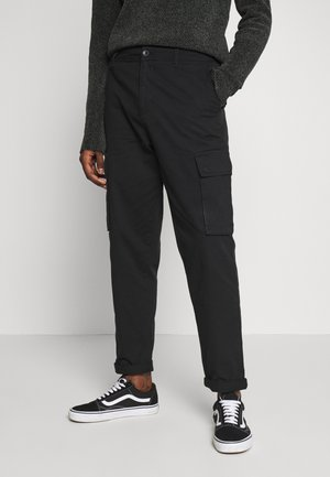 TROUSER - Cargo trousers - black