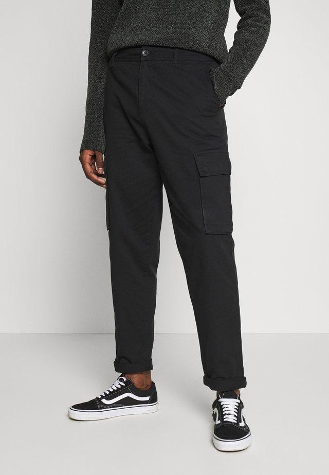 TROUSER - Cargo trousers - black