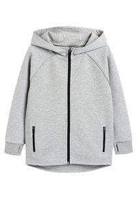 Next - BLACK SPORTS ZIP THROUGH - Zip-up hoodie - grey - 0