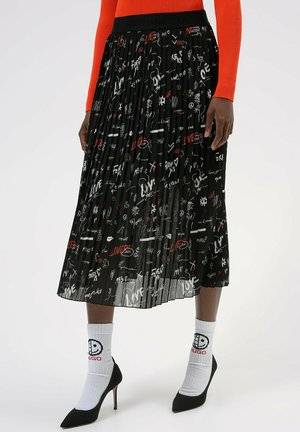 Pleated skirt - patterned