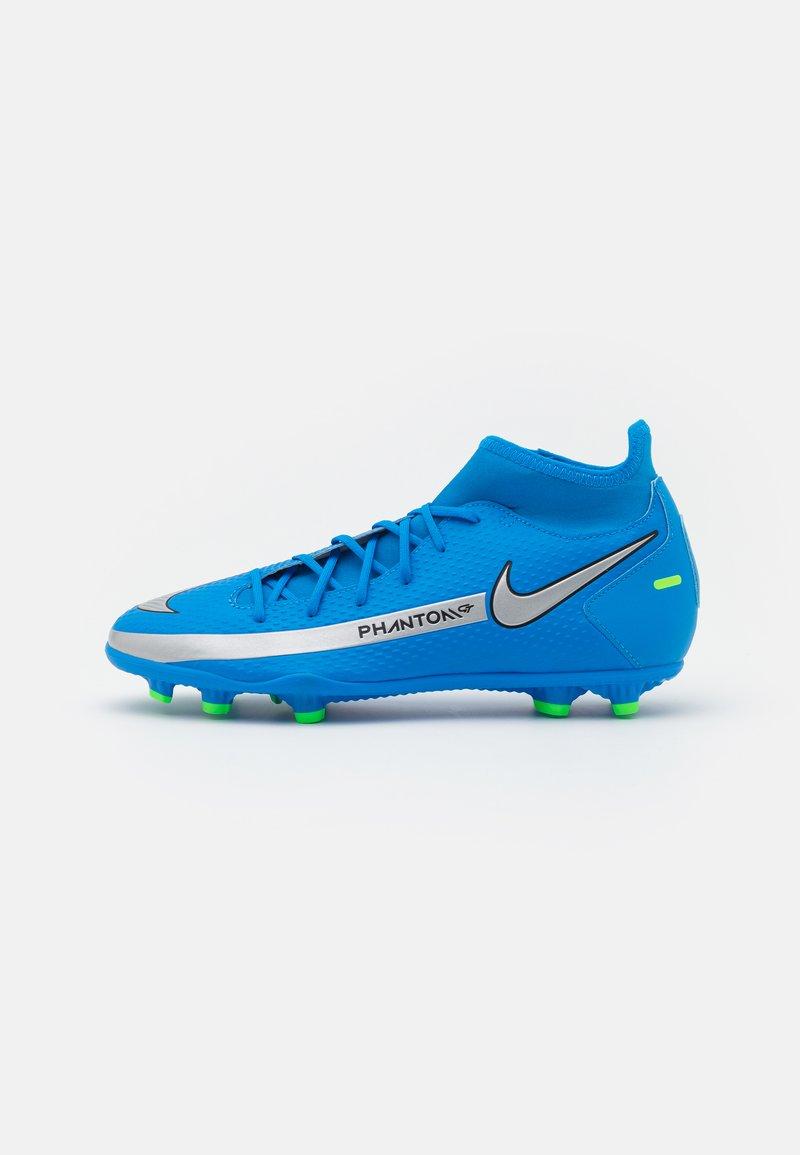 Nike Performance - PHANTOM GT CLUB DF FG/MG - Kopačky lisovky - photo blue/metallic silver/rage green