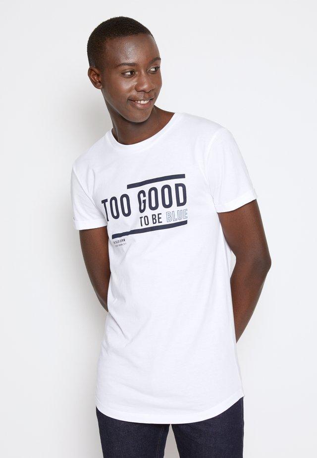WITH PRINT - T-shirt print - white