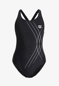 Arena - SOUL SWIM PRO BACK ONE PIECE - Swimsuit - black - 4