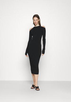 CUT OUT DRESS - Gebreide jurk - nero