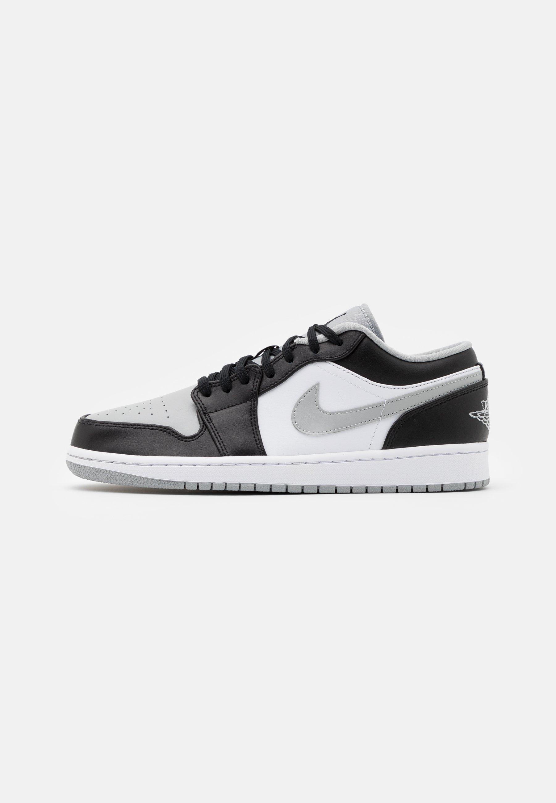 Jordan AIR 1 - Baskets basses - black/light smoke grey/white/gris ...
