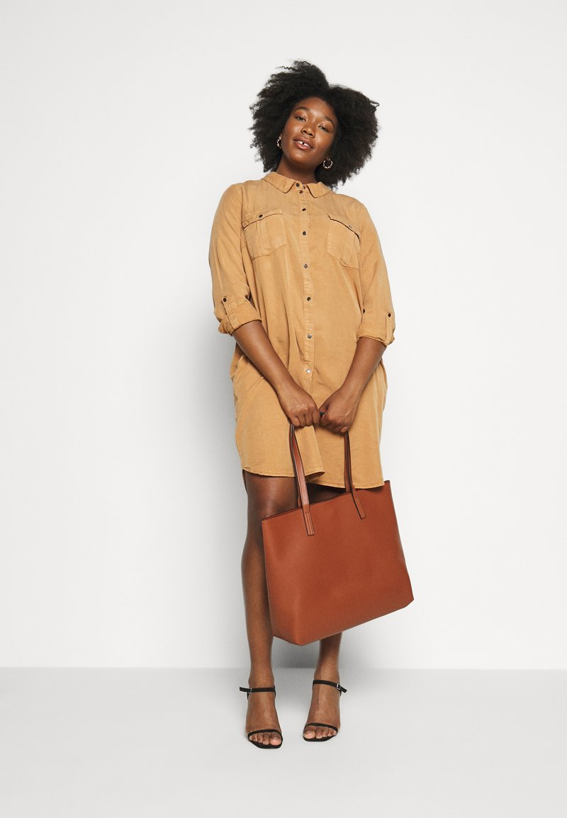 Even&Odd - Shopping bag - cognac
