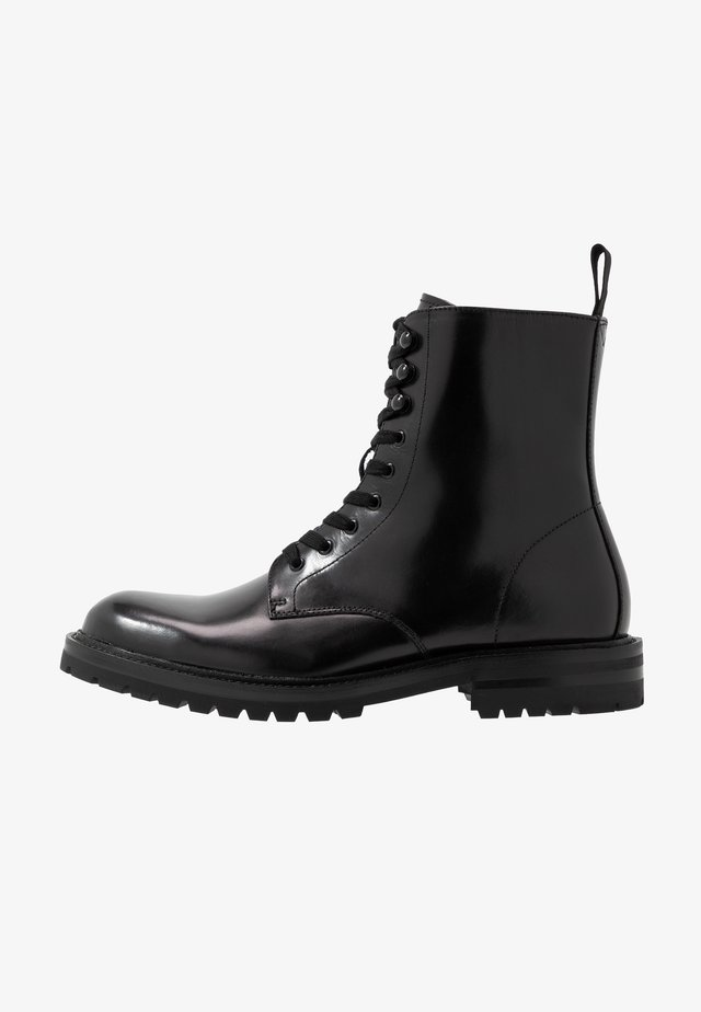 KOMMBAT - Bottines à lacets - black