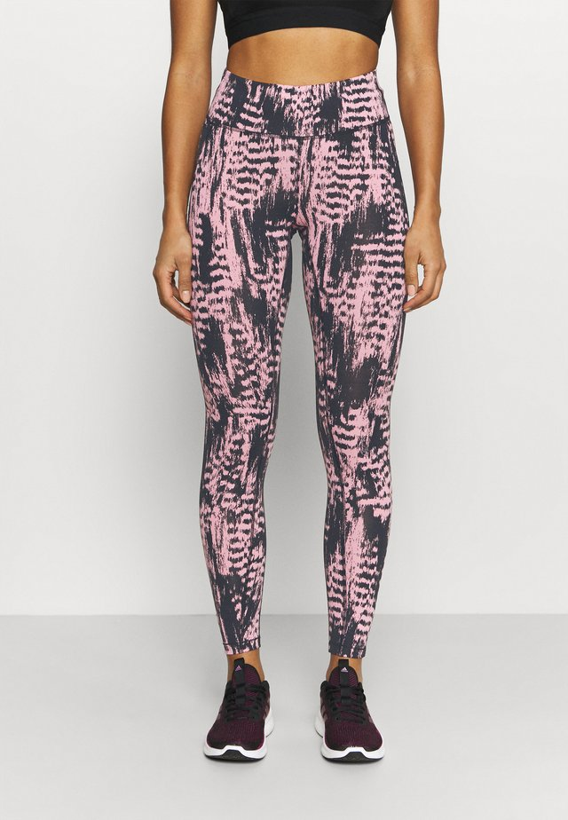 ICONIC PRINTED  - Leggings - survive pink