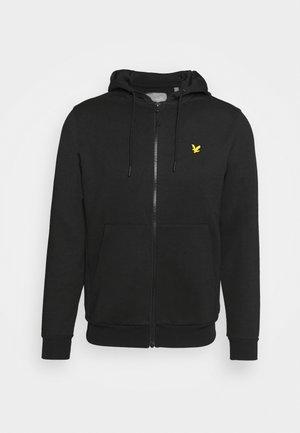 FULL ZIP FLY HOODIE - Sweater met rits - true black