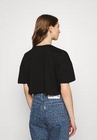 Even&Odd - 2 PACK - Basic T-shirt - black/green - 2