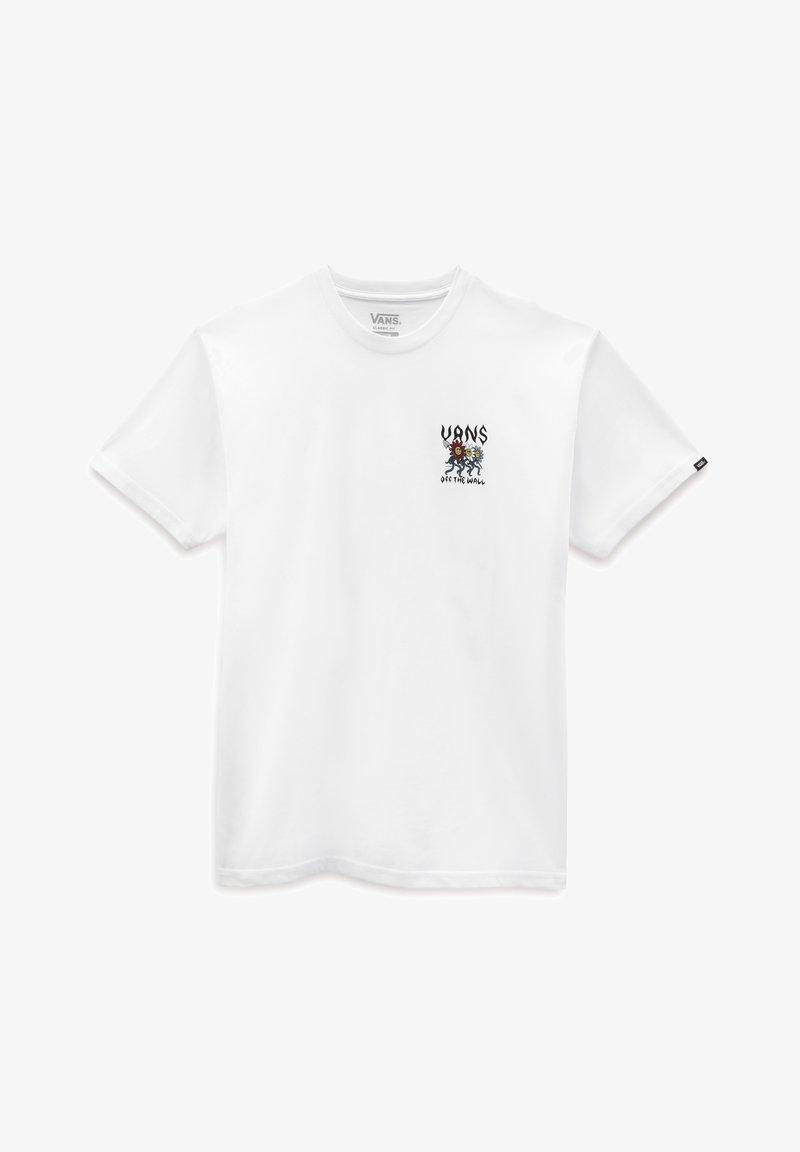 Vans - MN FLOWER POWER SS - T-shirt print - white