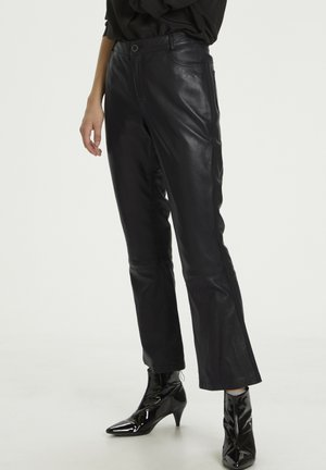 HUNTER DHTWIGGY  - Leather trousers - black