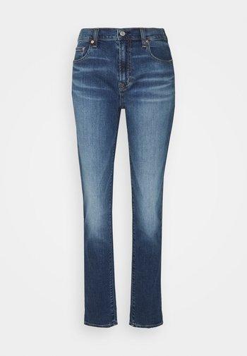 CAVIN ROLL - Straight leg jeans - dark indigo