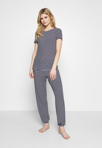 Marks & Spencer London - HANGING SET - Pyjama set - dark blue - 1