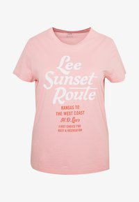 Lee Plus - LEE SUNSET  - T-shirt z nadrukiem - pink - 3