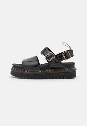 VEGAN VOSS - Korkeakorkoiset sandaalit - black
