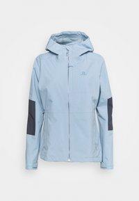 Salomon - OUTRACK WATERPROOF JACKET  - Hardshell jacket - ashley blue/ebony - 0