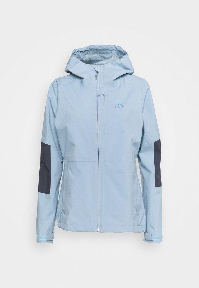 OUTRACK WATERPROOF JACKET  - Hardshellová bunda - ashley blue/ebony
