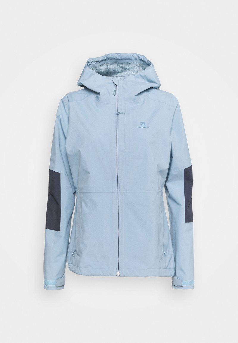Salomon - OUTRACK WATERPROOF JACKET  - Hardshell jacket - ashley blue/ebony