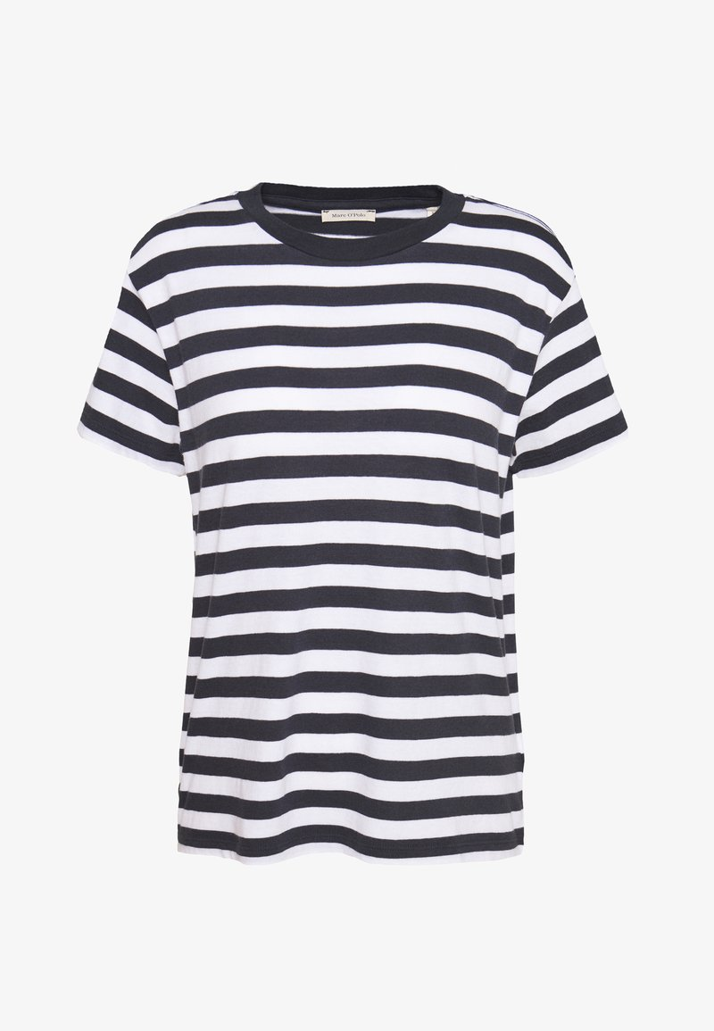 Marc O'Polo - SHORT SLEEVE ROUND NECK - Basic T-shirt - multi/silent sea