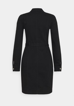 ONLFLEUR LIFE PUFF DRESS - Denim dress - black
