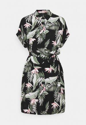 VMSIMPLY EASY SHIRT DRESS - Shirt dress - black