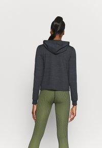 ONLY Play - ONPORLANA ZIP HOOD - Zip-up sweatshirt - black melange - 2