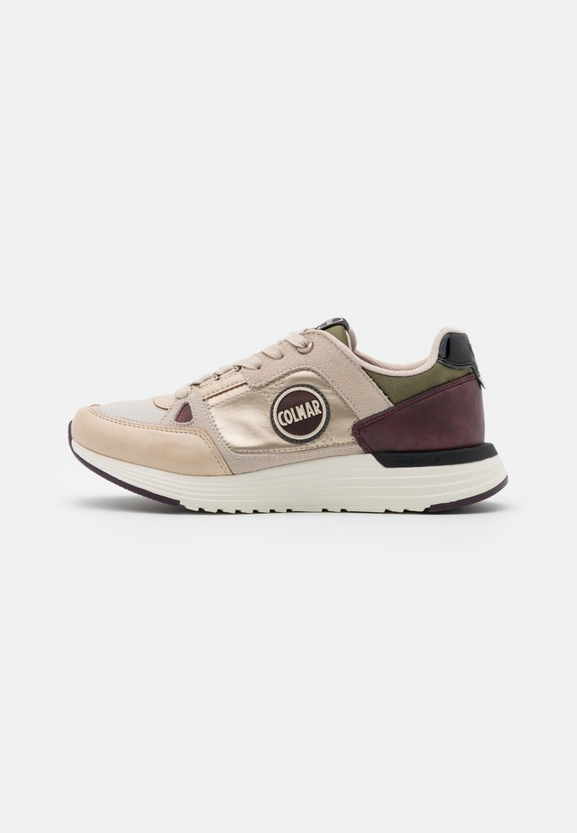 SUPREME QUEEN - Trainers - light gold/military green/bordeaux