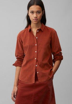 Button-down blouse - burnt brick