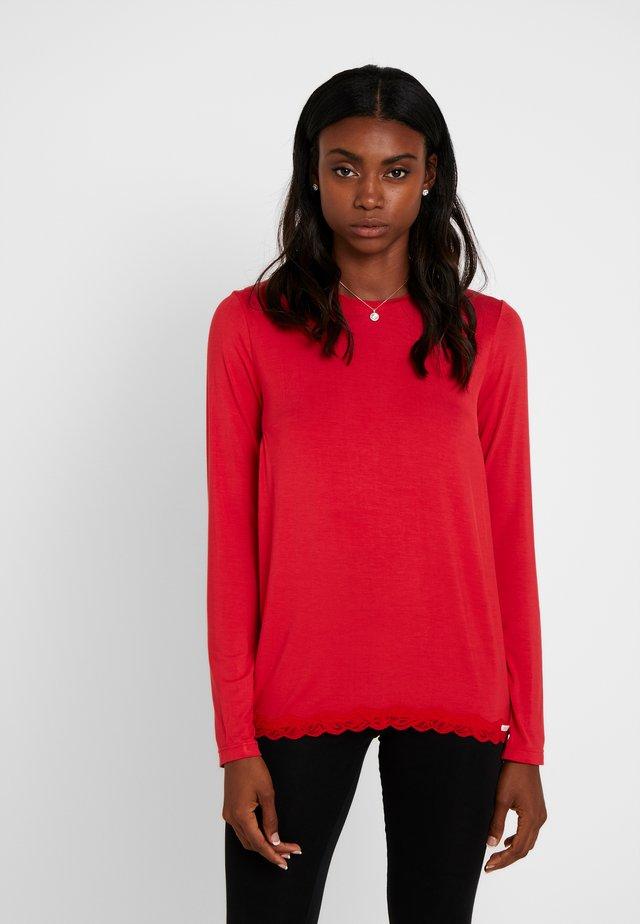 JOY SLEEP LANGARM - Pyjama top - ribbon red