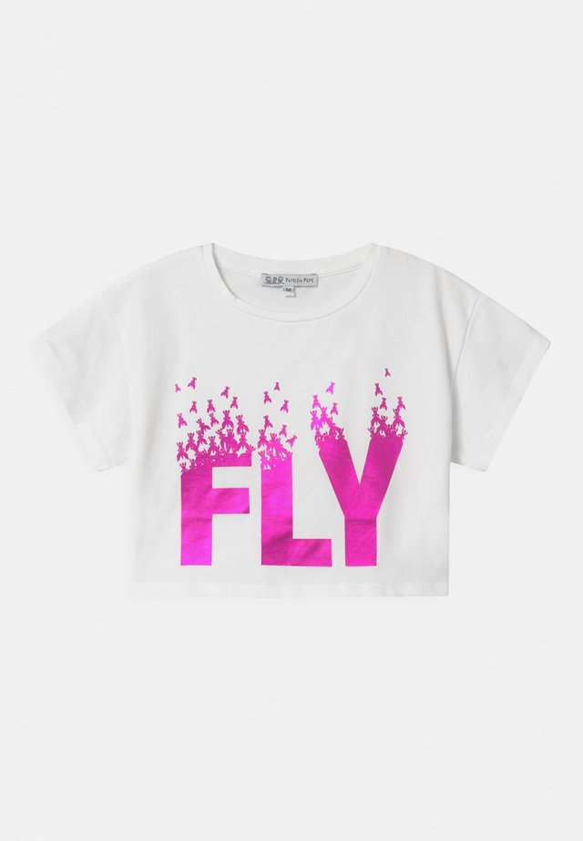 FLY - T-shirt imprimé - white