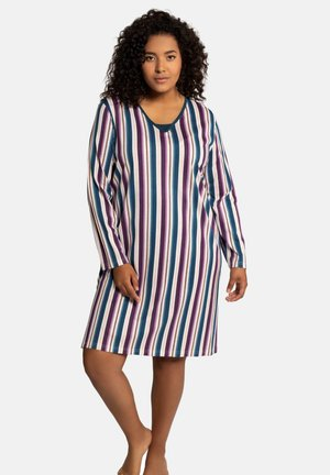 2 PACK - Nightie - grey melange, stripe
